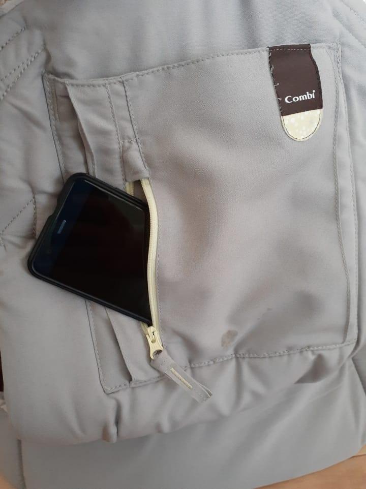 コンビのジョインEL-E抱っこ紐 チャック付きポケット