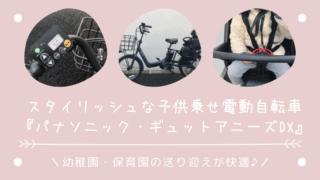 幼稚園の送り迎えが快適♪パナソニック電動自転車ギュットアニーズDX【レビュー】
