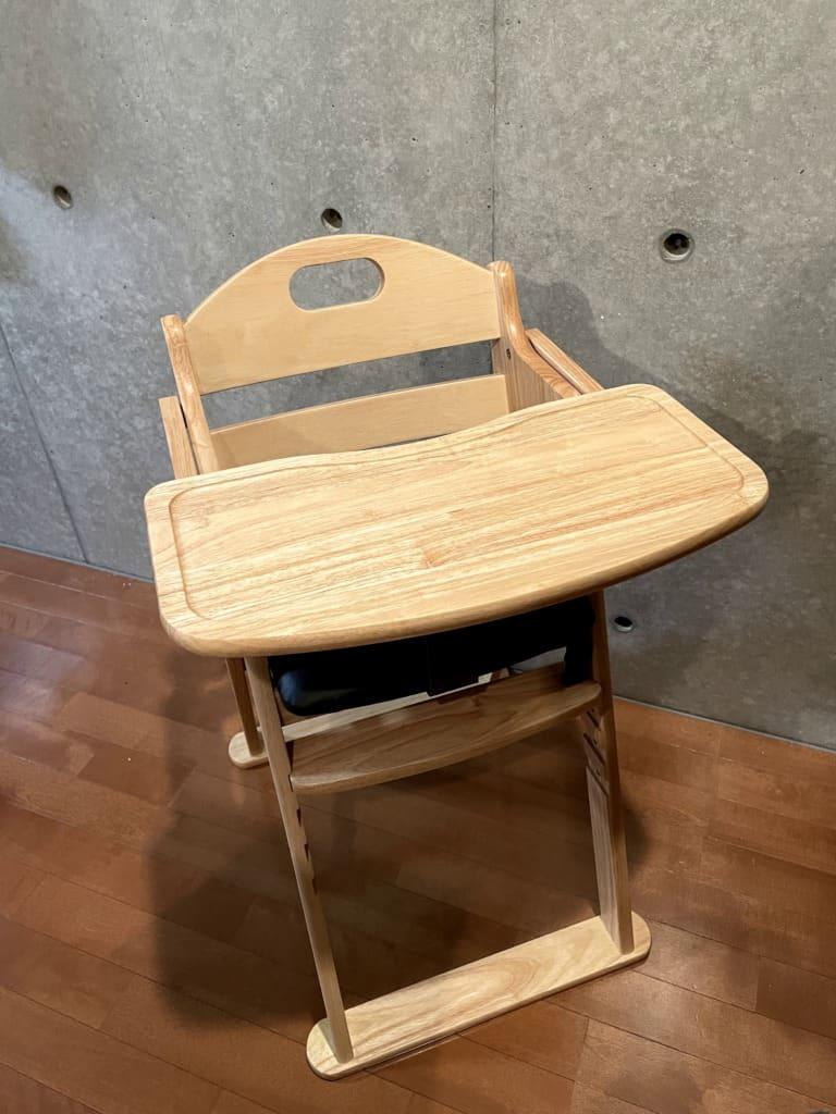 カトージ(KATOJI) 木製ハイチェア セナ斜め上から